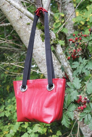 Leather Grommet Bag from Crafty Staci