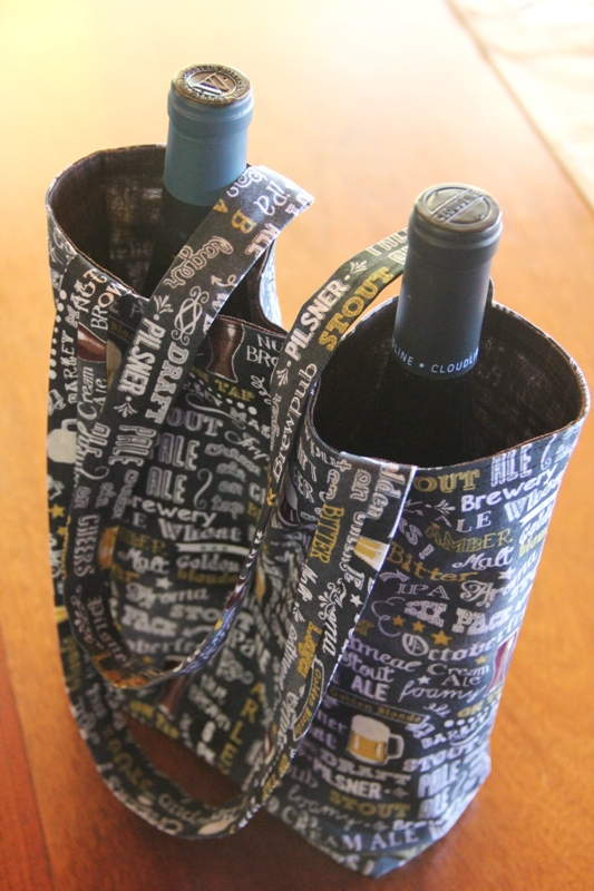 Sewing tutorial: Double wine bottle tote bag