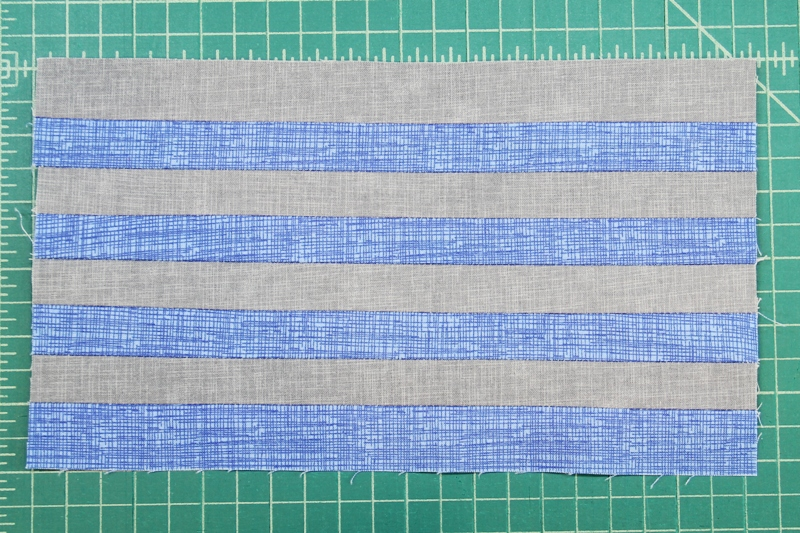 All strips sewn together