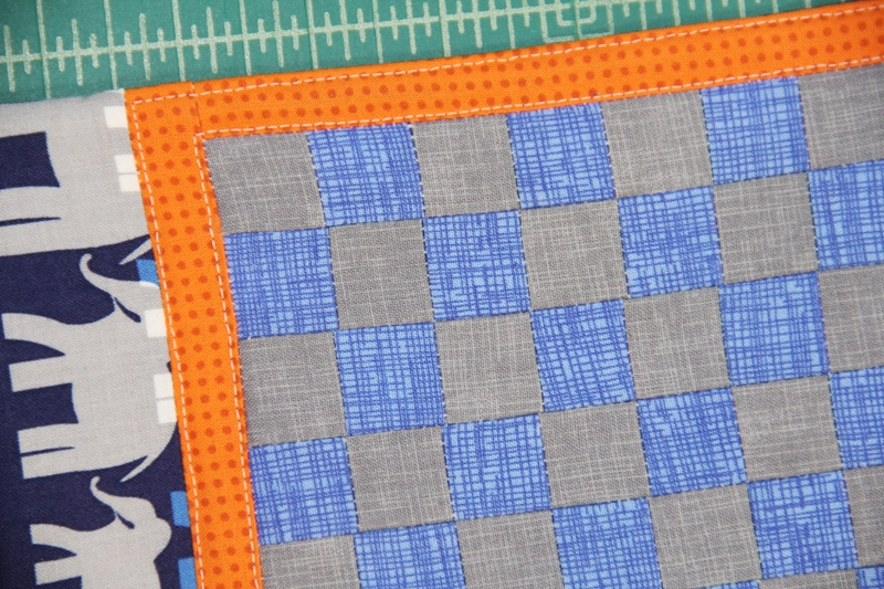 Topstitch around border