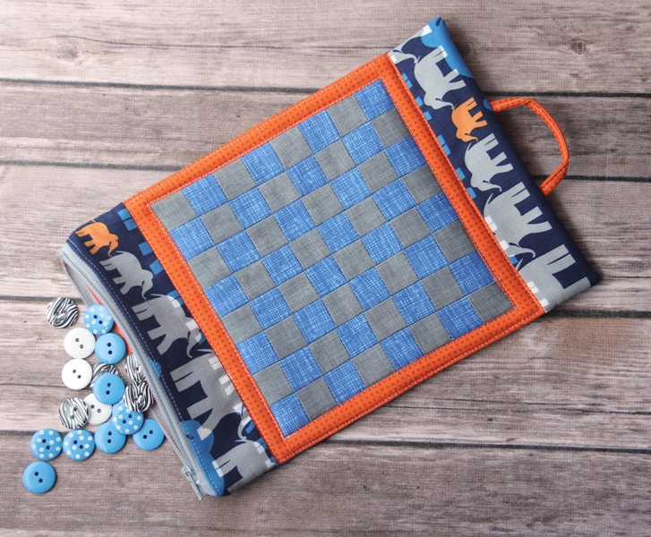 Game Board Mug Mat with Button Checkers on craftystaci.com