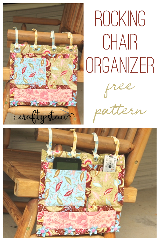 Rocking Chair Organizer - free pattern from CraftyStaci.com #freesewingpatterns #giftstomakeformom
