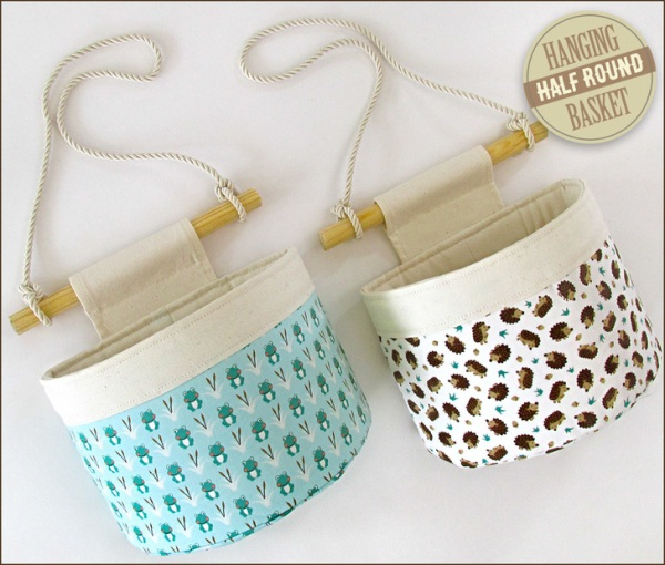 Hanging Half Round Basket from Sew4Home
