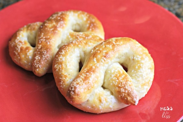2 Ingredient Pretzels from Mess for Less