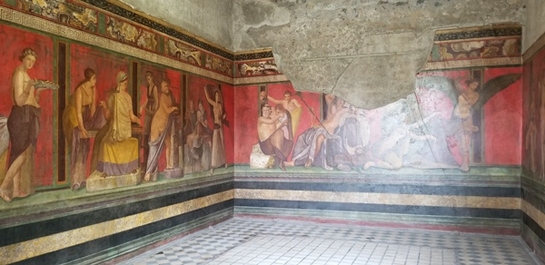 Painted walls in Pompeii