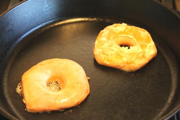 Toasting doughnuts