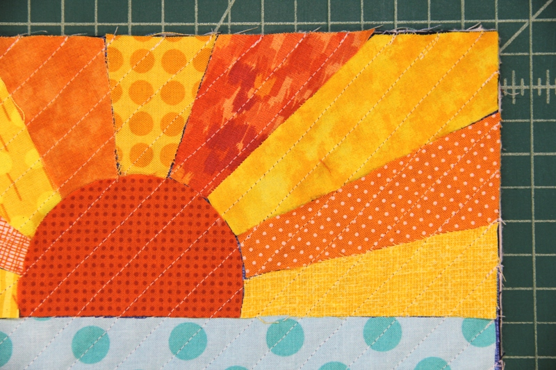 All diagonal lines stitched