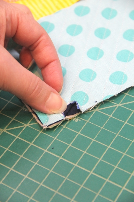 Start cutting between navy layers