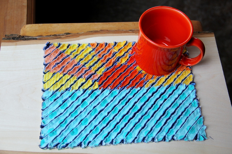 Sunset Faux Chenille Mug Mat from craftystaci.com