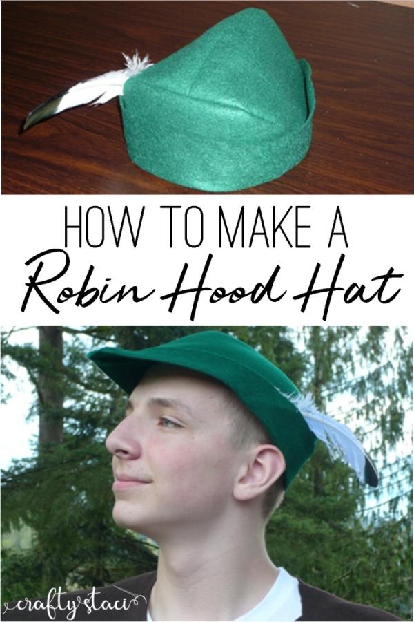 How to Make a Robin Hood Hat from craftystaci.com #halloweencostumes #robinhood
