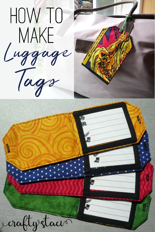 How to Make Luggage Tags from craftystaci.com #travelsewing #giftstomake
