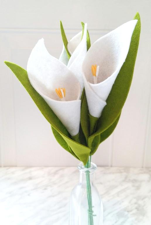 Felt Calla Lily from WIldflower Felt Designs