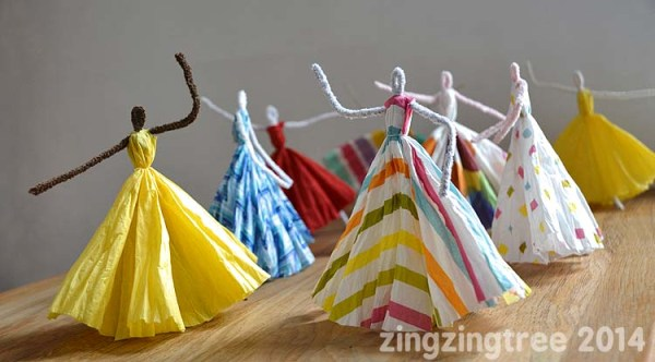 Pipe Cleaner Dancing Princesses from Blue Bear Wood