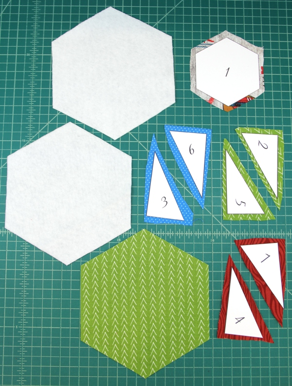 Pattern pieces cut