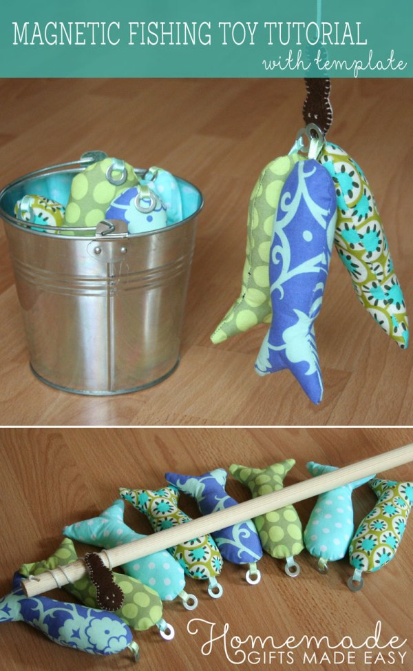 Magnetic Fishing Toy from Homemade Gifts Made Easy