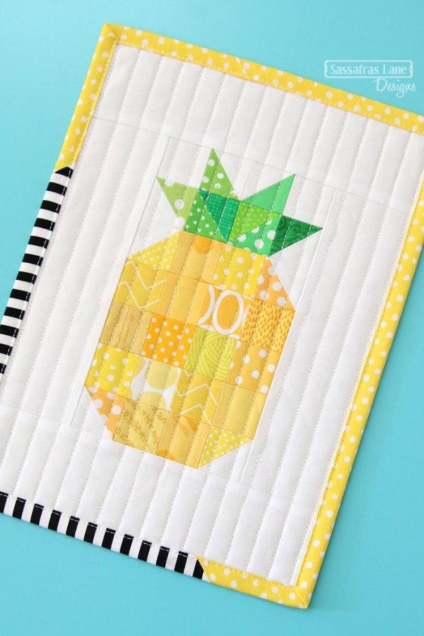 Patchwork Pineapple Mini Quilt from Sassafras Lane