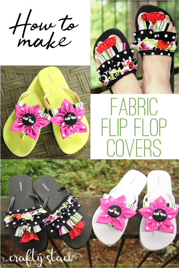 How to Make Fabric Flip Flop Covers from craftystaci.com #summersewing