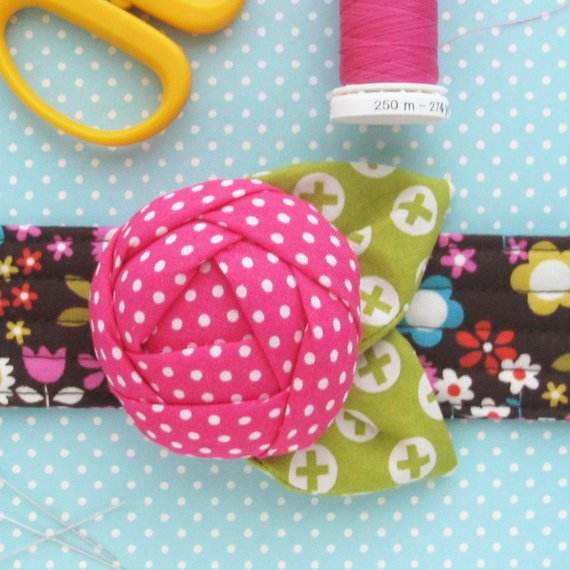 Rose Pincushion Cuff Pattern from michellepatterns