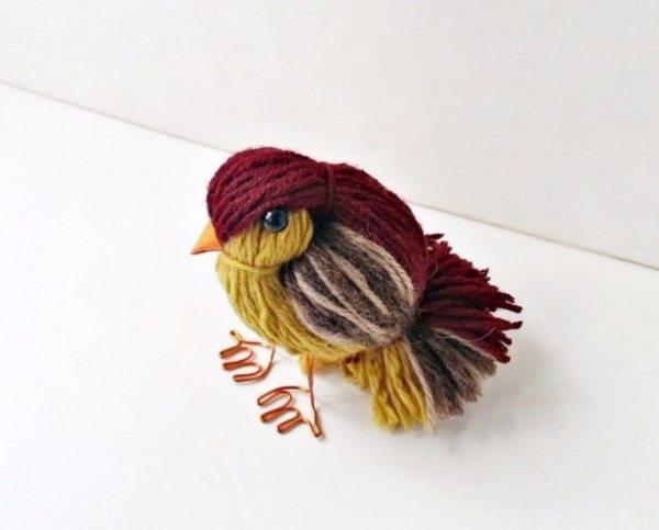Yarn Bird from Craft Bits