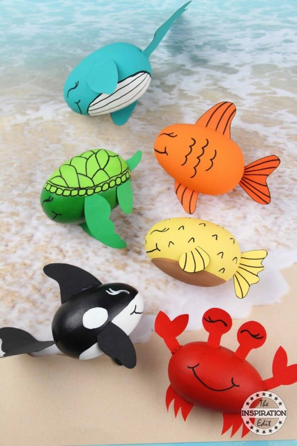 Whale and Fish Ocean Craft from The Inspiration Edit