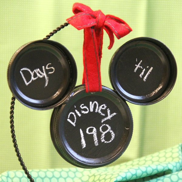 Mickey Mason Jar Lid Ornament - Crafty Staci 2