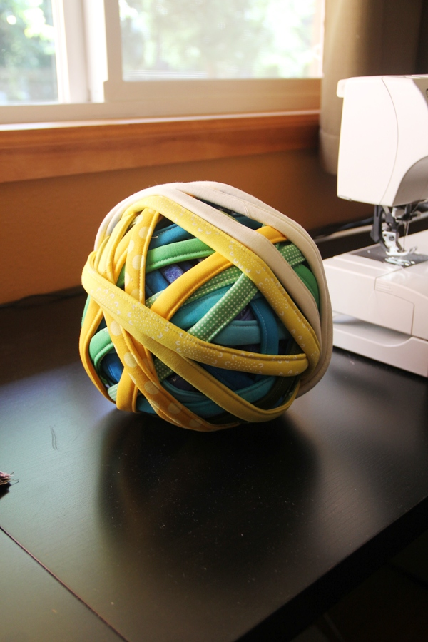 Ball of fabric cord