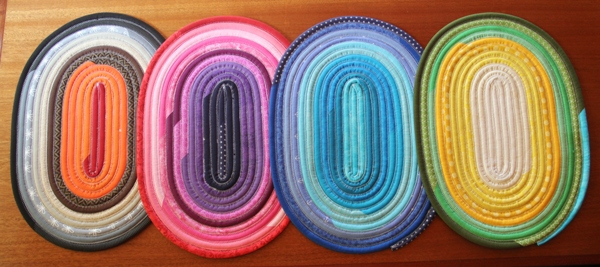 Jelly Roll Placemats on Crafty Staci