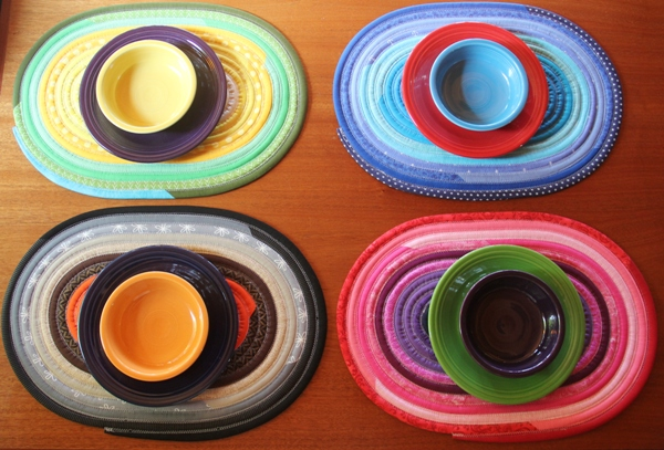 Jelly Roll Placemats from Crafty Staci