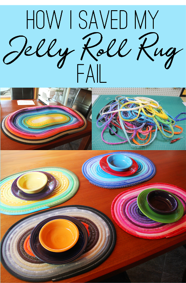 How I Saved my Jelly Roll Rug Fail on craftystaci.com #craftfail #craftsave #jellyrollrug