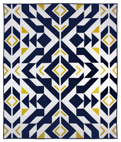 Brave Indigo Quilt from Michael Miller Fabrics