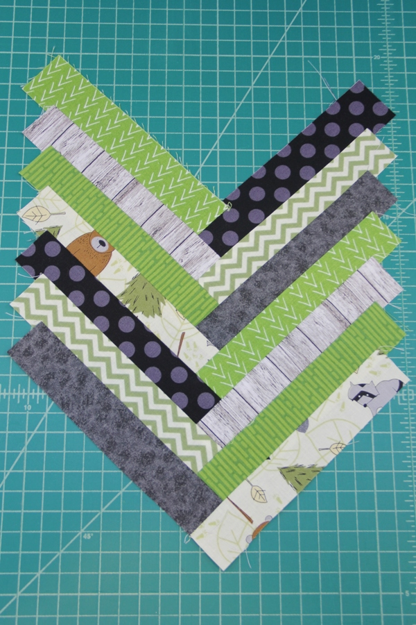 All strips sewn