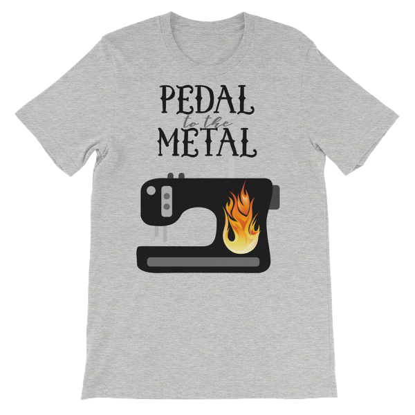 Pedal to the Metal T-Shirt from craftystaci.com #sewingtshirt #sewingshirt #pedaltothemetal