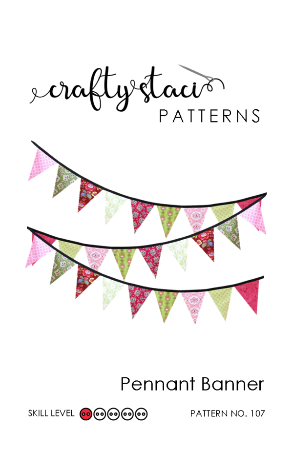 Pennant Banner Sewing Pattern from craftystaci.com #sewingpattern #buntingpattern #sewingforbeginners