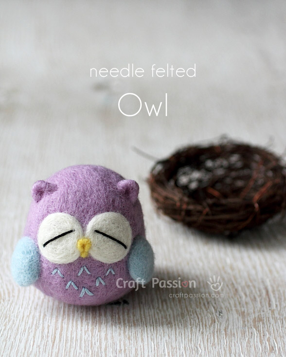 Needle Felted Owl from Craft Passion