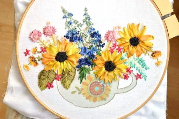 Silk RIbbon Embroidery Kit from TatianaPopovaCrafts