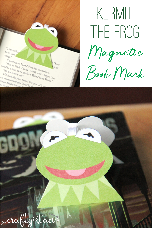 Kermit the Frog Magnetic Bookmark from craftystaci.com #muppetcrafts #kermitthefrog #disneycrafts #sesamestreet