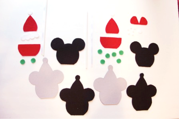 Mickey and Minnie Caramel Apple Ornaments - Crafty Staci 3