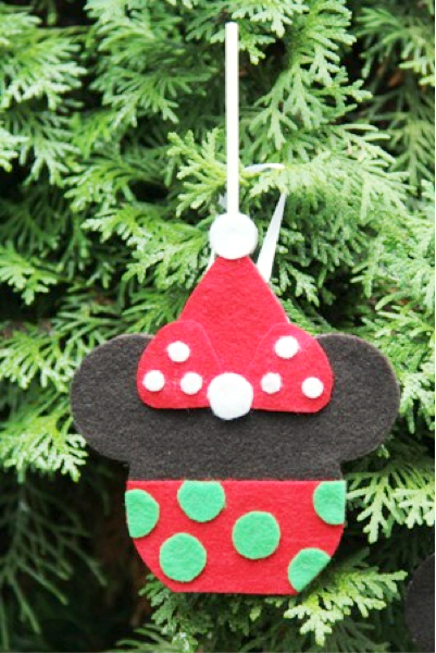 Minnie Caramel Apple Ornament