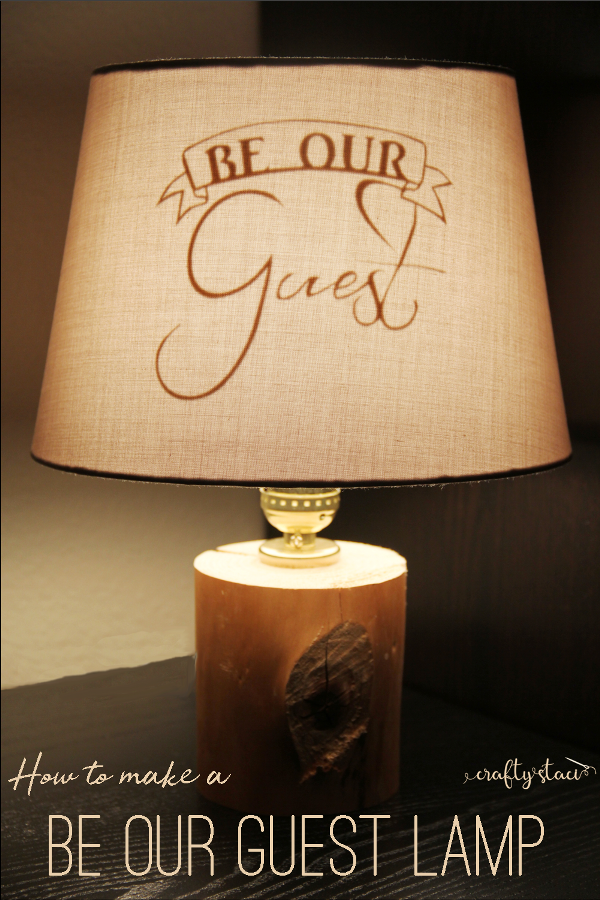 Be Our Guest Lamp from craftystaci.com #disneycrafts #beautyandthebeast #lampmaking