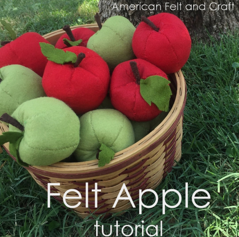 Felt Apples from American Felt and Craft