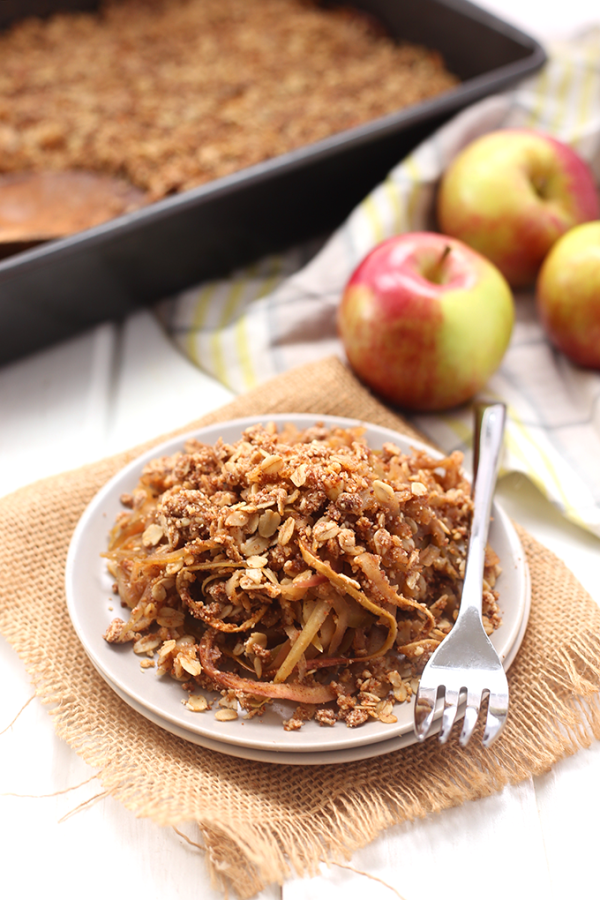 Spiralized Apple Crumble from The Healthy Maven