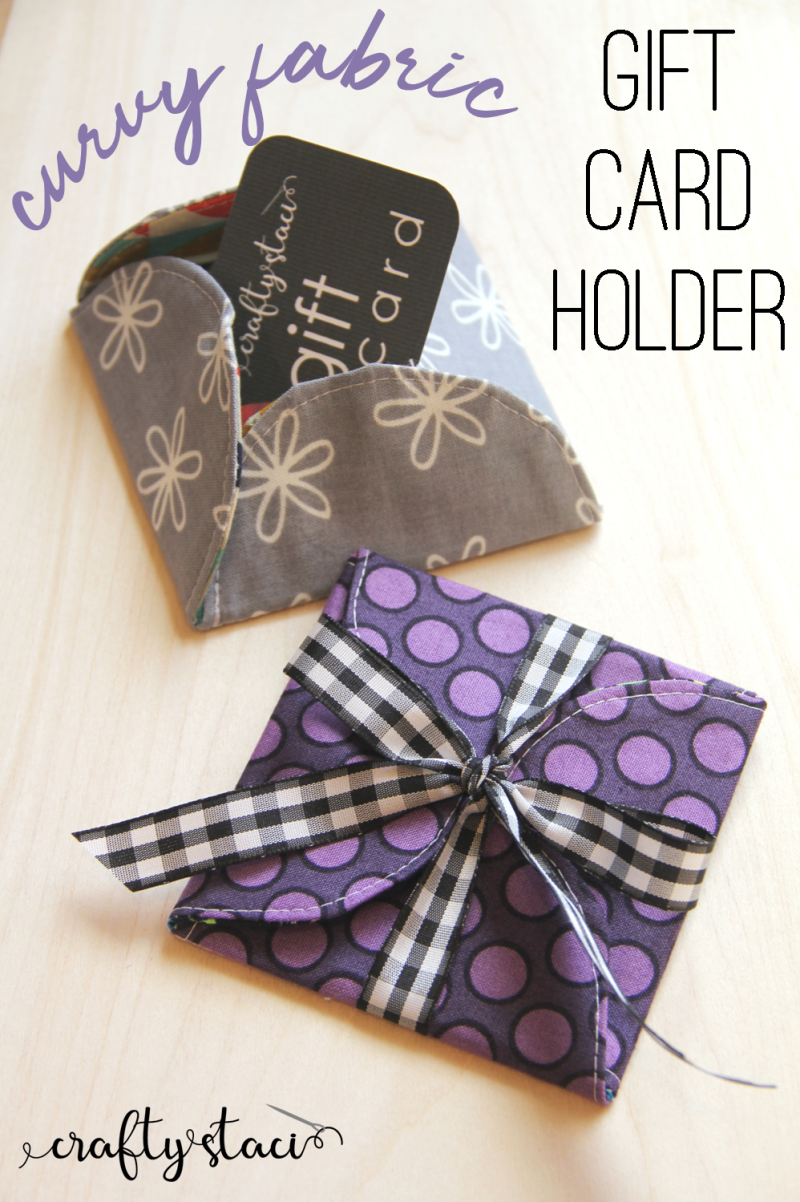 Curvy Fabric Gift Card Holder from craftystaci.com #giftstosew #giftcard #giftcardenvelope #giftstomake