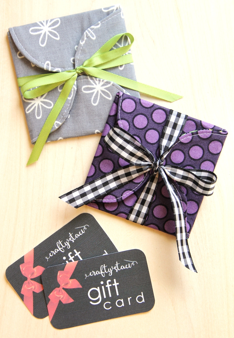 Curvy Fabric Gift Card Holder from Crafty Staci