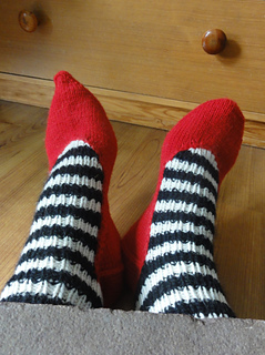 Wicked Witch House Socks from Anna Shurmann on Ravelry