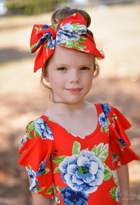 Knit Fabric Bow Headband from Create Kids Couture