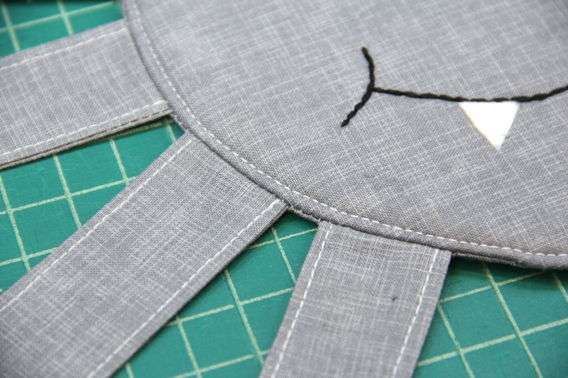 Top stitch around near edge