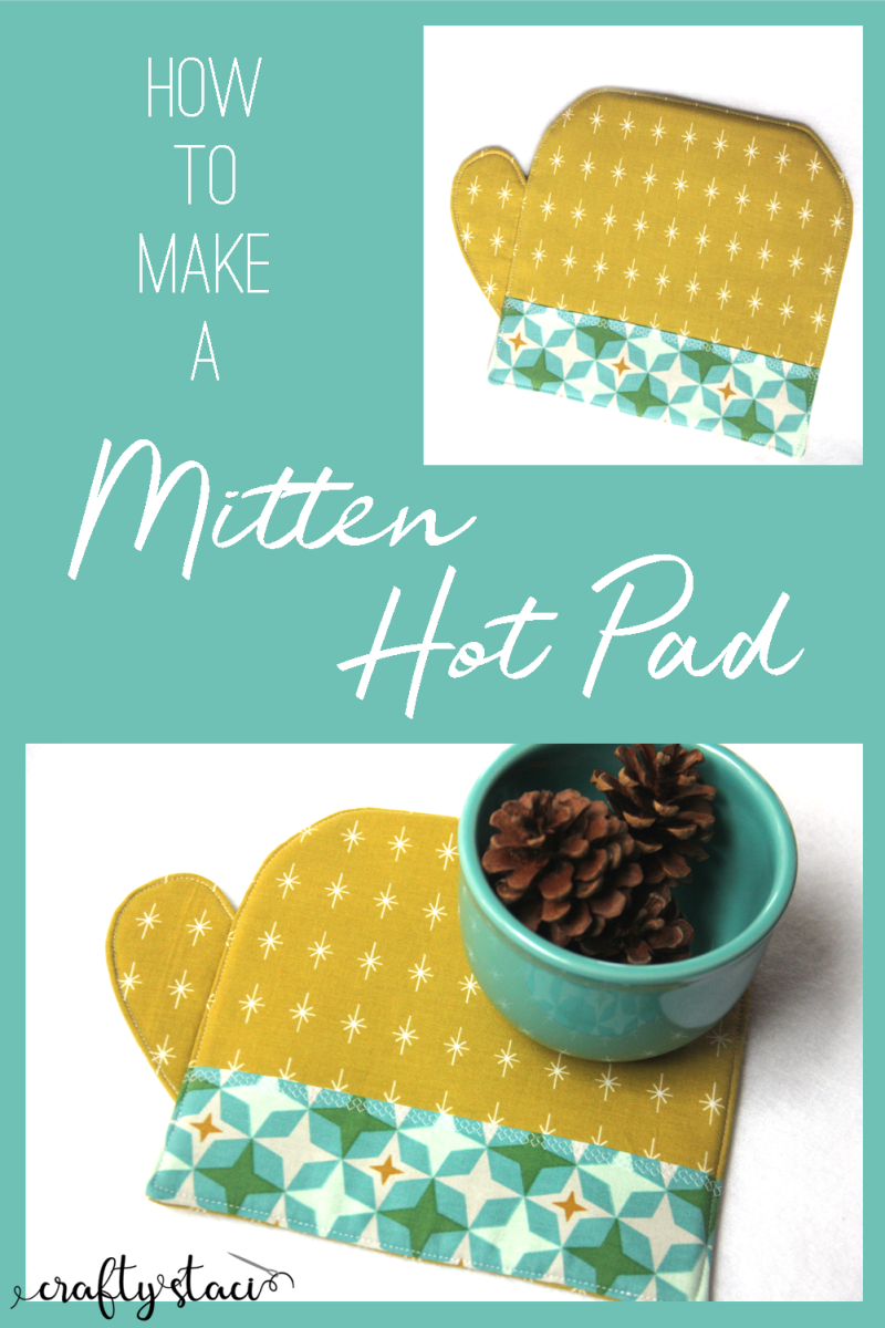 How to Make a Mitten Hot Pad from craftystaci.com #sewingtutorial #giftstomake #mittens