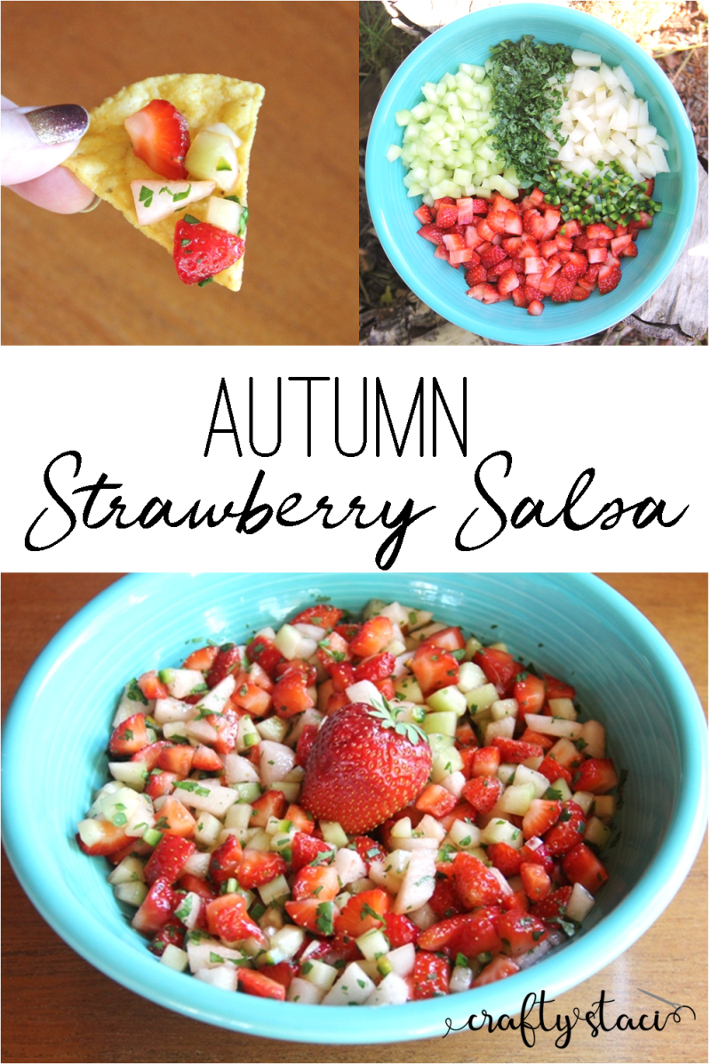 Autumn Strawberry Salsa from craftystaci.com #strawberries #oregonberries #putaberryonit @oregonberries