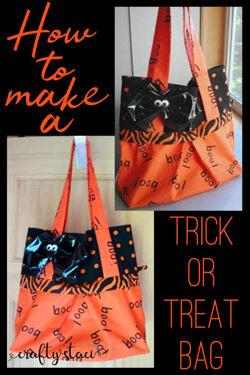 Trick or Treat Bag from craftystaci.com #halloweensewing #halloweencrafts #trickortreat #diyhalloween