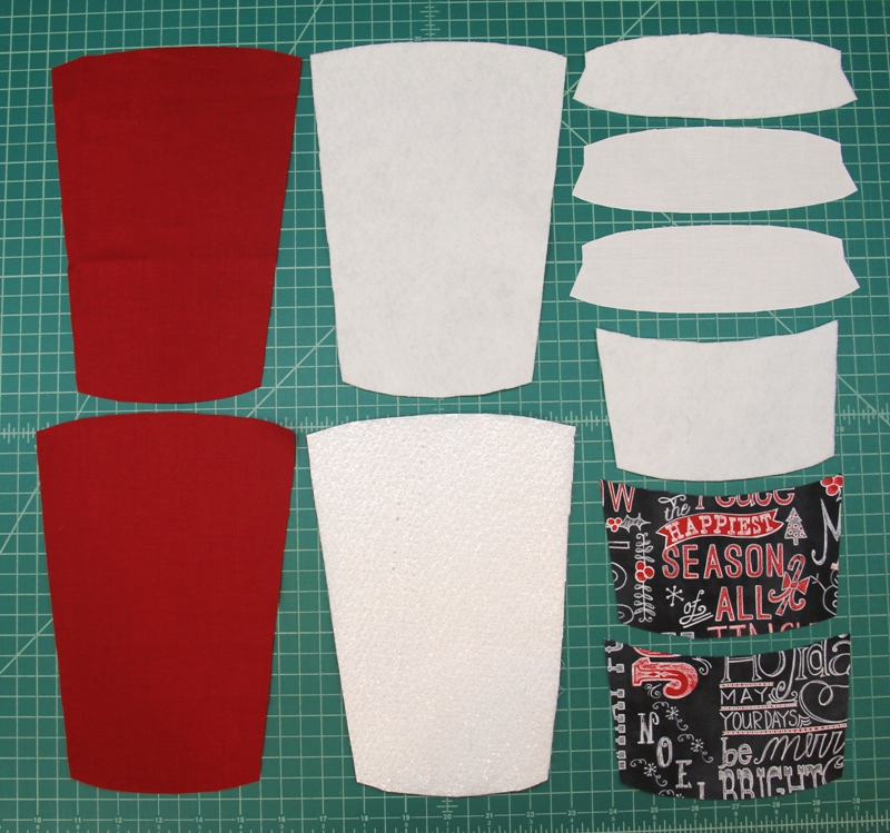 Supplies for to go cup mug mat